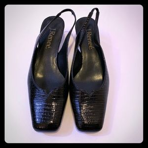 J. Renee black sling backs size 7.5M